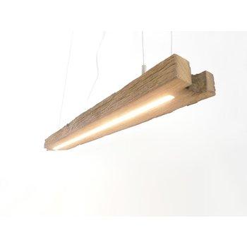Lampe LED suspension bois poutres anciennes ~ 114 cm
