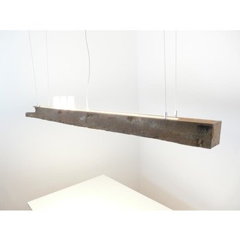 Led suspension lamp made of antique beams ~ 160 cm