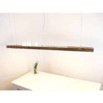 große Hängeleuchte aus antiken Balken ~ 190 cm