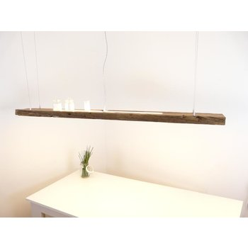 large hanging lamp made of antique beams ~ 190 cm