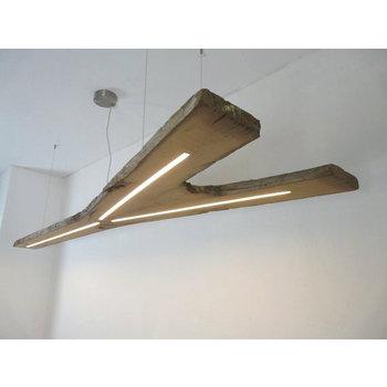 large hanging lamp wood antique beams ~ 246 cm - Copy