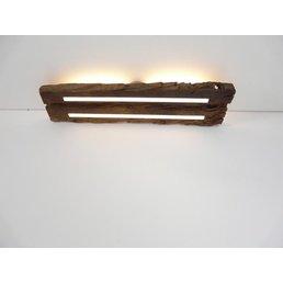 Plafonnier en bois ancien avec éclairage indirect ~ 73 cm