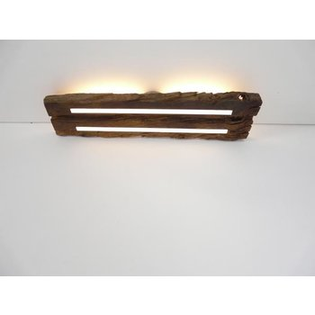 Antique wood ceiling lamp with indirect lighting ~ 73 cm