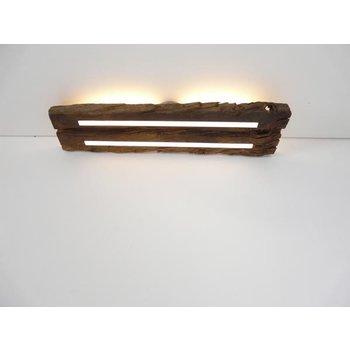 Deckenleuchte Holz antik mit indirekter Beleuchtung ~ 73 cm