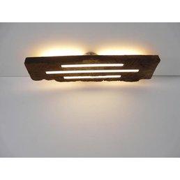 Plafonnier en bois ancien avec éclairage indirect ~ 68 cm