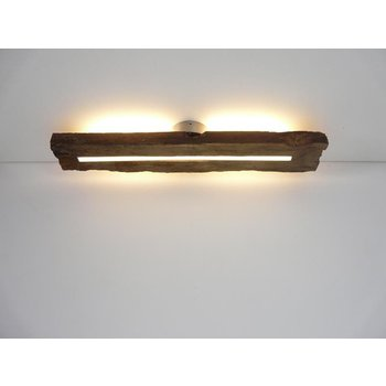 Antique wood ceiling lamp with indirect lighting ~ 70 cm