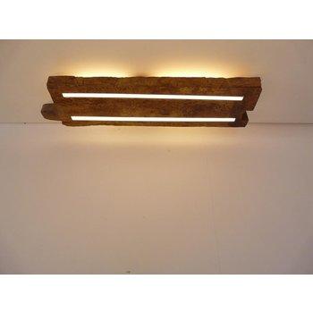 Plafonnier en bois ancien avec éclairage indirect ~ 71 cm
