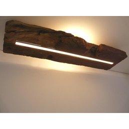 Deckenleuchte Holz antik mit indirekter Beleuchtung ~ 71 cm