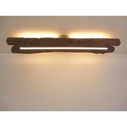 Plafonnier en bois ancien avec éclairage indirect ~ 83 cm