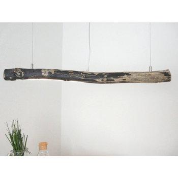 petite lampe à suspension LED en bois flotté ~ 86 cm