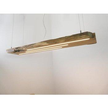 lampe à suspension large en poutres anciennes ~ 130 cm
