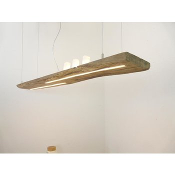 Led suspension lamp made of antique beams ~ 144 cm