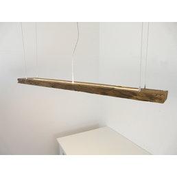 Lampe à suspension en poutres anciennes ~ 141 cm