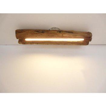 Lampe LED plafonnier bois poutres anciennes ~ 62 cm