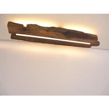 Plafonnier en bois ancien avec éclairage indirect ~ 86 cm