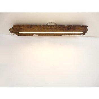 Lampe LED plafonnier bois poutres anciennes ~ 80 cm