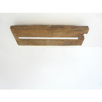 Antique wood ceiling lamp with indirect lighting ~ 52 cm