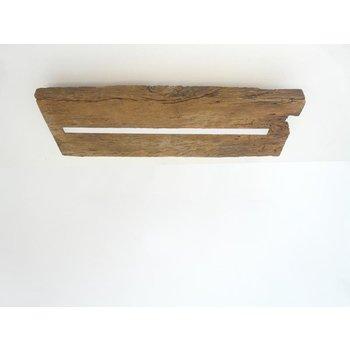 Deckenleuchte Holz antik mit indirekter Beleuchtung ~ 52 cm