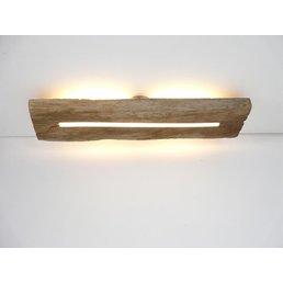 Plafonnier en bois ancien avec éclairage indirect ~ 76 cm