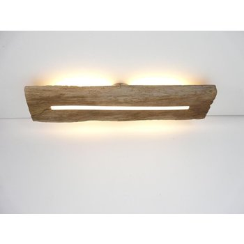 Deckenleuchte Holz antik mit indirekter Beleuchtung ~ 76 cm