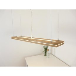 """Hanging lamp """"Sandwich"""" oiled oak with top and bottom light ~ 100 cm - Copy"""