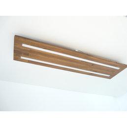 Deckenleuchte Holz naturwuchs akazienfarbig geölt~ 120 cm