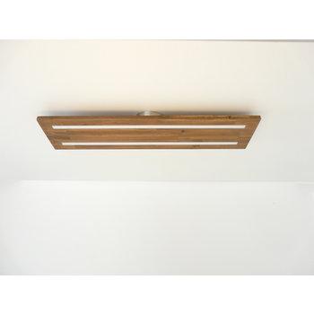 Plafonnier bois d'acacia ~ 80 cm