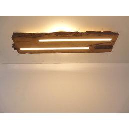 Plafonnier en bois ancien avec éclairage indirect ~ 92 cm