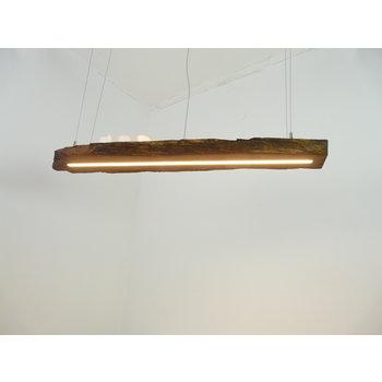 Lampe LED suspension bois poutres anciennes ~ 107 cm
