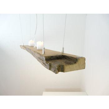 LED Lampe Hängelampe aus antiken Balken ~112 cm