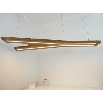 große Hängeleuchte Holz antik Balken ~ 181 cm