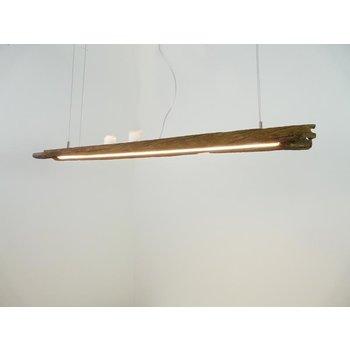 Lampe LED suspension bois poutres anciennes ~ 110 cm