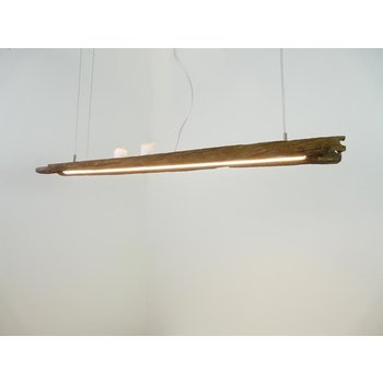 LED Lampe Hängeleuchte Holz antik Balken ~ 110 cm