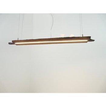Lampe LED suspendue poutres anciennes en bois clair ~ 107cm