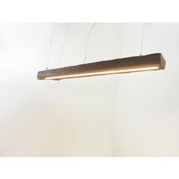 Lampe LED suspension bois poutres anciennes ~ 108 cm