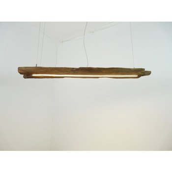 rustic hanging lamp made of antique beams ~ 118 cm