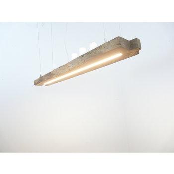 Lampe LED suspension bois poutres anciennes ~ 113 cm