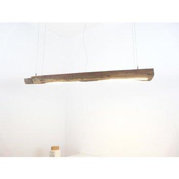 Lampe LED suspension bois antique ~ 120 cm