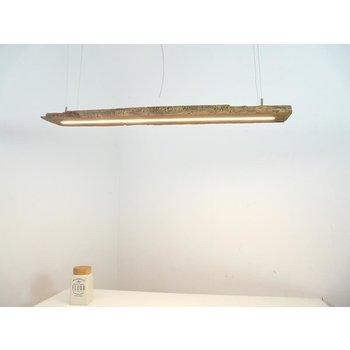 LED Lampe Hängeleuchte aus antiken Balken ~118 cm