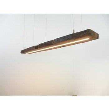 Lampe LED suspension bois poutres anciennes ~ 109 cm