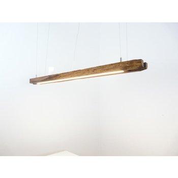 Lampe LED suspension bois poutres anciennes ~ 116 cm