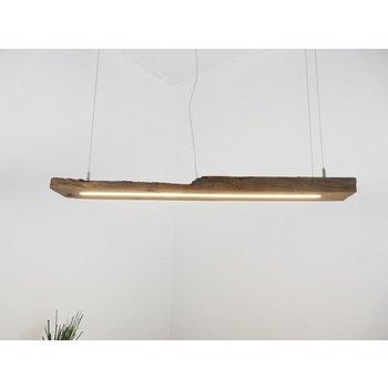 Lampe LED suspension bois poutres anciennes ~ 106 cm