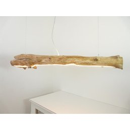 large driftwood lamp with upper and lower light ~ 150 cm