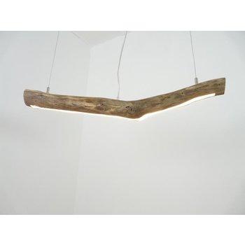 petite lampe à suspension LED en bois flotté ~ 80 cm