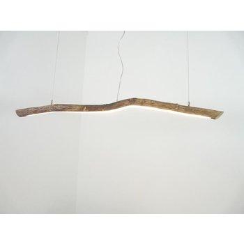Lampe à suspension LED en bois flotté ~ 120 cm
