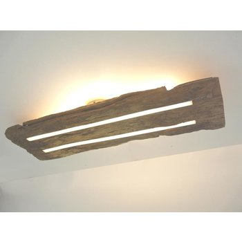 Antique wood ceiling lamp with indirect lighting ~ 71 cm