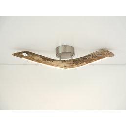 petite lampe LED plafonnier bois flotté ~ 67 cm