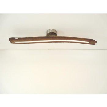 Lampe LED plafonnier bois poutres anciennes ~ 95 cm
