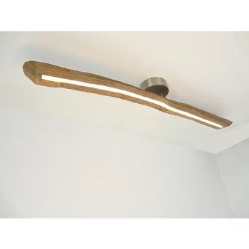 Lampe LED plafonnier bois poutres anciennes ~ 105 cm