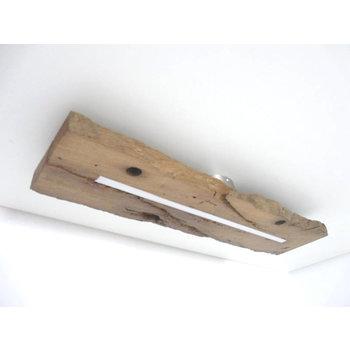 Lampe LED plafonnier bois poutres anciennes ~ 72 cm